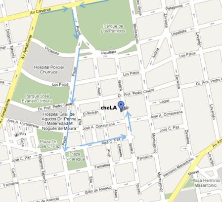 mapa chela2009